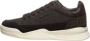 Czarne buty sportowe Bjorn Borg sznurowane z płaską podeszwą ze skóry