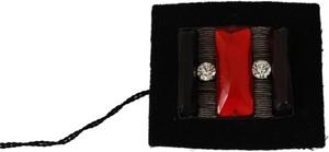 Gf Ferre Crystals Square Accessory Pin Brooch