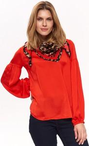 Czerwona bluzka Top Secret w stylu casual z tkaniny