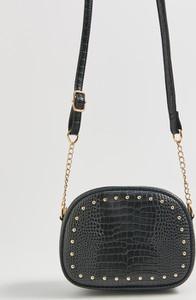 Czarna torebka Sinsay zdobiona mała na ramię