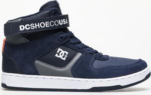 Niebieskie buty sportowe DC Shoes z zamszu sznurowane