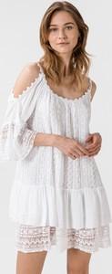 Sukienka Guess mini z długim rękawem z bawełny
