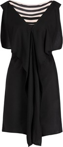 Sukienka Liu Jo Gold mini z krótkim rękawem z dekoltem w kształcie litery v