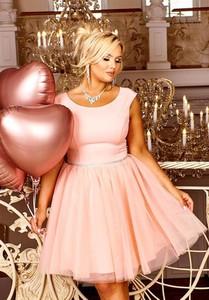 Sukienka Bosca mini z okrągłym dekoltem