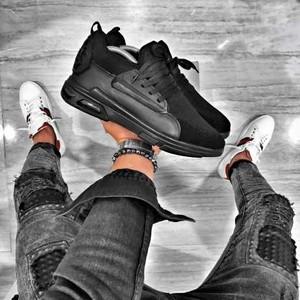 Czarne buty sportowe Duuf sznurowane