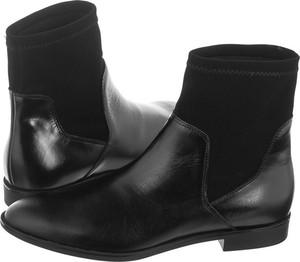 Czarne botki Ryłko w stylu casual z płaską podeszwą