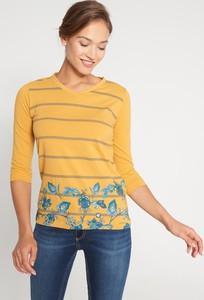 Żółta bluzka QUIOSQUE w stylu casual