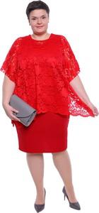 3b535ab8cb Sukienka modneduzerozmiary.pl z okrągłym dekoltem z krótkim rękawem