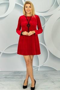 Czerwona sukienka Made in Italy mini z długim rękawem