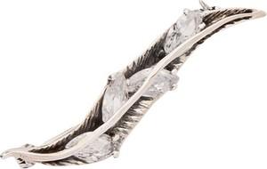 Polcarat Design Broszka srebrna zdobiona cyrkoniami B 147