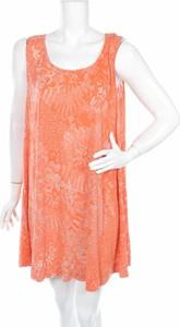 Pomarańczowa sukienka Chalet oversize na ramiączkach