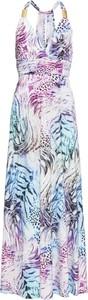 Sukienka bonprix BODYFLIRT boutique maxi bez rękawów