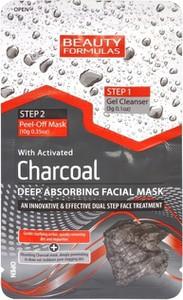 Beauty Formulas, Charcoal, maseczka 2-fazowa, głęboko oczyszczająca z aktywnym węglem, 13 g