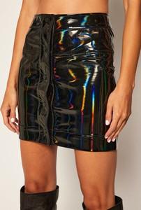 Spódnica Armani Exchange ze skóry mini