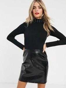 Czarna sukienka Lipsy mini z golfem
