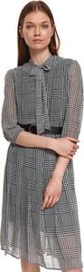 Sukienka Top Secret z okrągłym dekoltem koszulowa mini