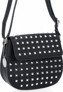 Czarna torebka Diana&Co lakierowana na ramię duża
