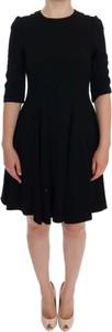 Czarna sukienka Dolce & Gabbana z jedwabiu