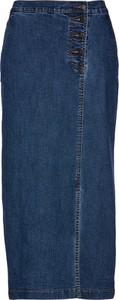 Niebieska spódnica bonprix bpc selection w stylu casual midi