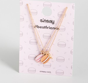 Sinsay - Naszyjniki dla przyjaciółek - Beżowy