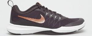 Fioletowe buty sportowe Nike ze skóry sznurowane