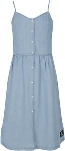 Niebieska sukienka dziewczęca Calvin Klein z jeansu