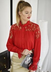 Czerwona koszula Fason z bawełny