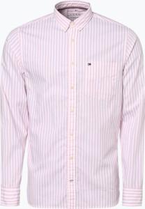 Różowa koszula Tommy Hilfiger w stylu casual z długim rękawem