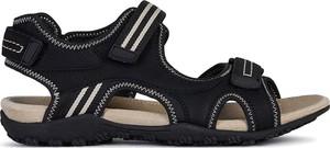 Sandały Geox w stylu casual z płaską podeszwą ze skóry