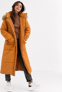 Brązowy płaszcz Asos