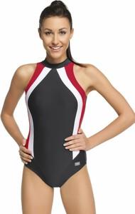 Winner damski kostium kąpielowy olivia jednoczęściowy czarno-czerwony