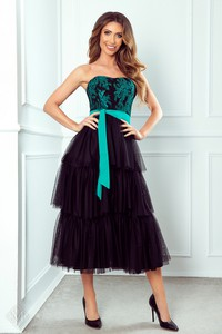 Sukienka Ptakmoda.com gorsetowa z tiulu