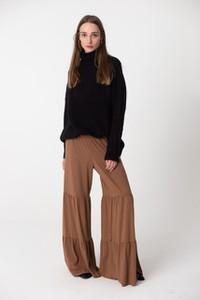 Brązowe spodnie NEATNESS w stylu boho