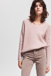 e4f2331022 Sweter Reserved z dzianiny w stylu casual