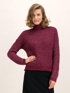 Czerwony sweter Hugo Boss