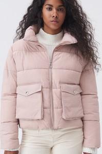 Różowa kurtka Sinsay krótka w stylu casual