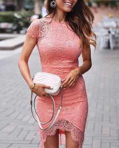 Sukienka Kendallme mini z okrągłym dekoltem dopasowana