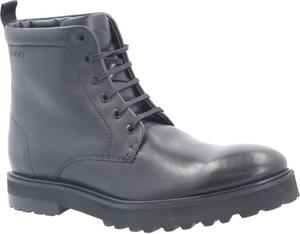 Granatowe buty zimowe Joop! sznurowane