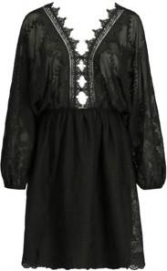 Sukienka Guess midi w stylu casual z długim rękawem
