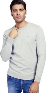 Sweter Guess z okrągłym dekoltem z dzianiny w stylu casual