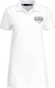 Sukienka Love Moschino w stylu casual mini z kołnierzykiem