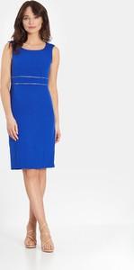 Niebieska sukienka Marcelini ołówkowa