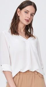 Koszula Sinsay z dekoltem w kształcie litery v z długim rękawem