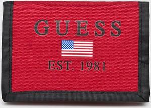 Czerwony portfel męski Guess Jeans
