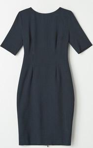 Niebieska sukienka Mohito w stylu casual z krótkim rękawem mini