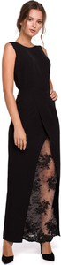 Sukienka Merg bez rękawów z okrągłym dekoltem prosta