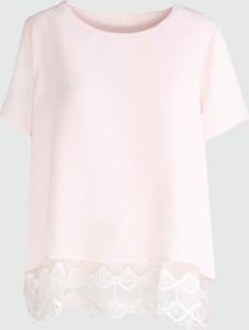 Born2be jasnoróżowa bluzka lace ruffle