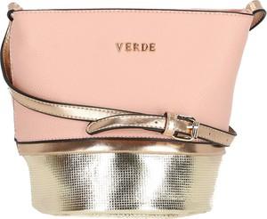 Różowa torebka Verde na ramię