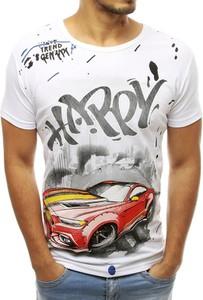 T-shirt Dstreet z nadrukiem z krótkim rękawem z tkaniny