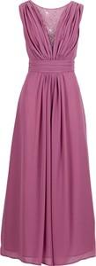 Sukienka bonprix BODYFLIRT z dekoltem w kształcie litery v w stylu klasycznym bez rękawów